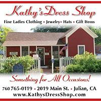 Kathy's Dress shop store front photo
