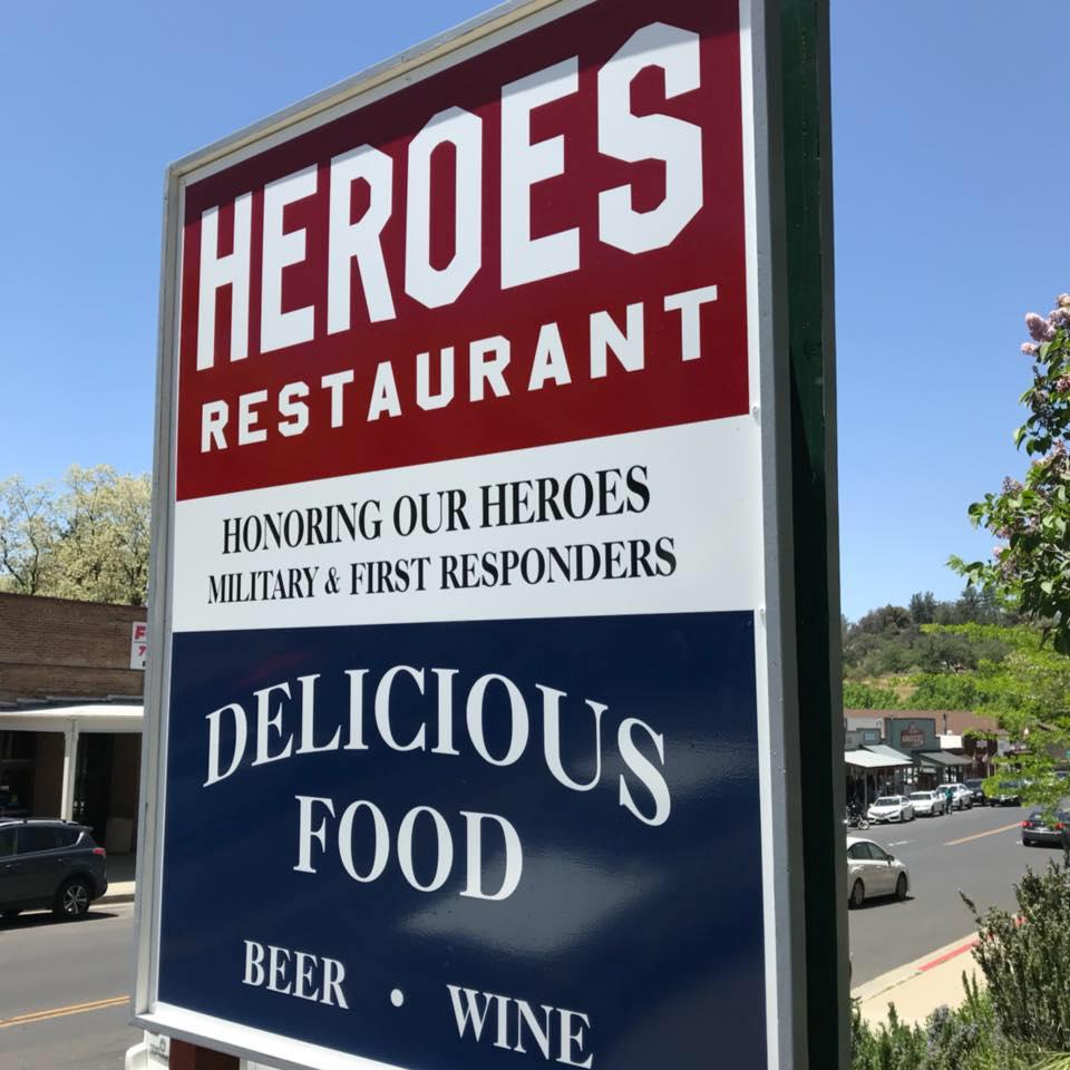 Heroes Restaurant Sign Photo