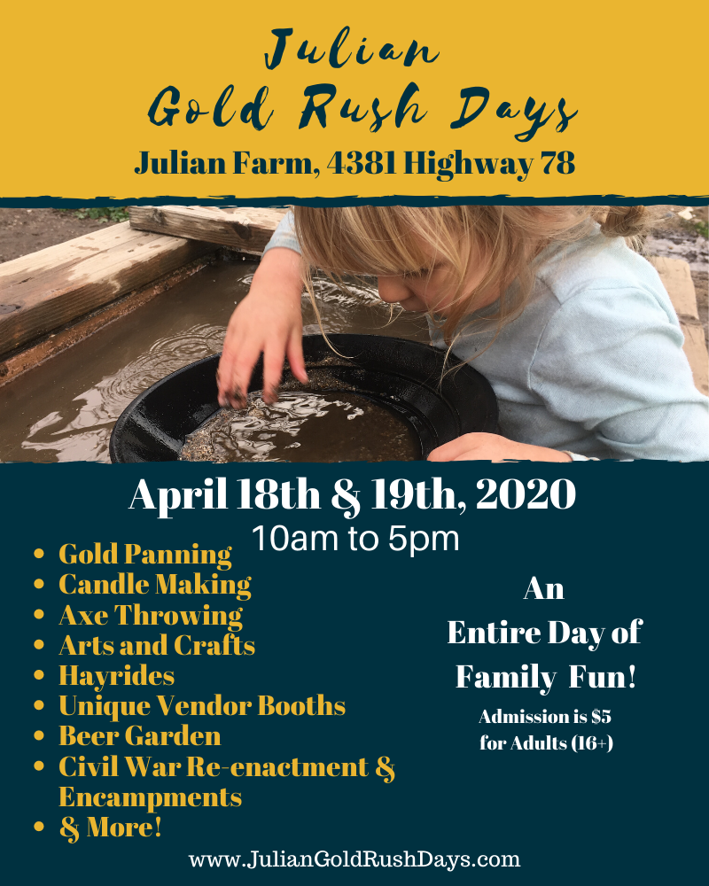 Julian Gold Rush Days infographic