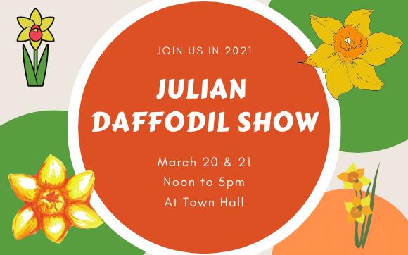 2021 Julian Daffodil Show Poster