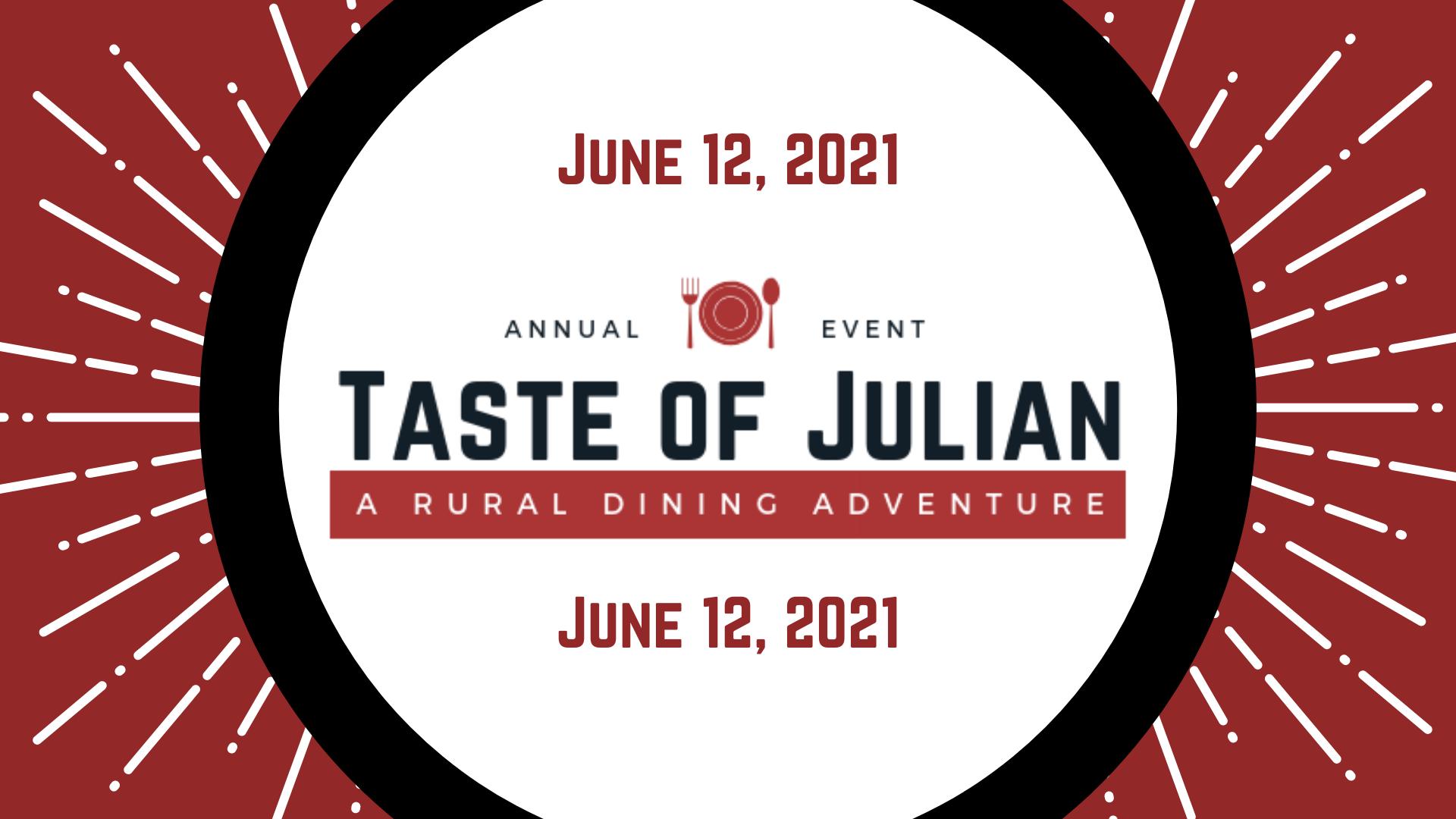 Taste of Julian 2021 event header