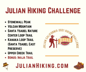 Julian Hiking Challenge Poster