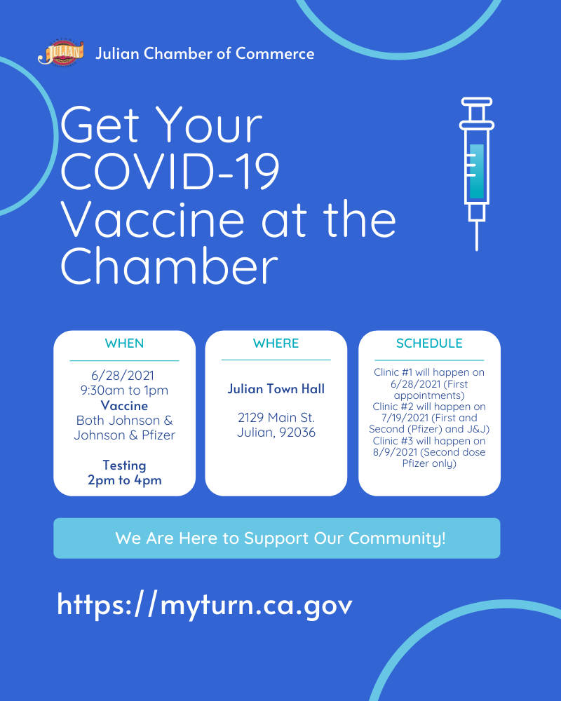 Get Your Vaccine at the Chamber Poster