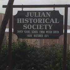 julian historical society sign