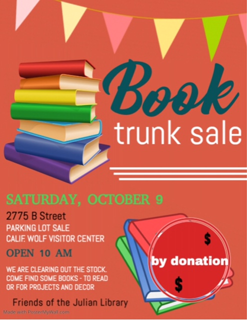 Book Trunk Sale Poster